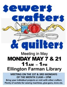 Quilters, Sewers & Crafters Group @ Ellington Farman Library