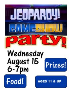 Jeopardy for Juniors Party!