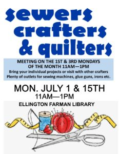 Quilting/Crafting Group @ Ellington Farman Library