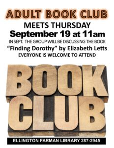 Adult Book Club @ Ellington Farman Library