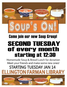 Soup Group @ Ellington Farman Library