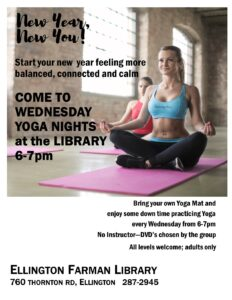 Wednesday Yoga at the library @ Ellington Farman Library