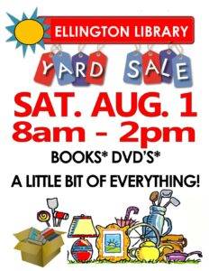 Come to our Library Yard Sale on Saturday!