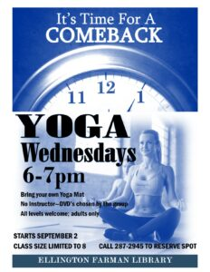 Yoga Wednesdays at the library @ Ellington Farman Library