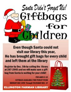 Santa Gifts for Children @ Ellington Farman Library