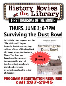 Monthly History Movie @ Ellington Farman Library