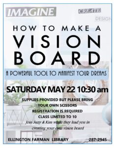Making a Vision Board @ Ellington Farman Library