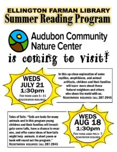 Audubon Live Animals Program @ Ellington Farman Library