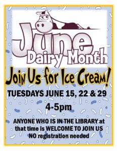 Dairy month Celebration! @ Ellington Farman Library